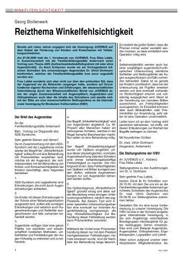 Reizthema Winkelfehlsichtigkeit - IVBS – Internationale Vereinigung ...