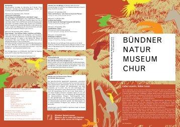 Ausgabe Nr. 43 September 2012 - Bündner Naturmuseum