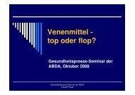 Vortrag Claudia Peuke: Venenmittel - top oder flop?