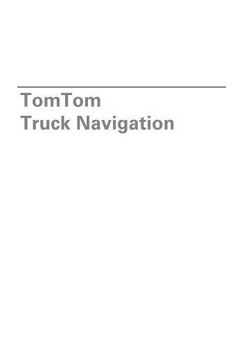 TomTom Truck Navigation - TomTom Business Solutions