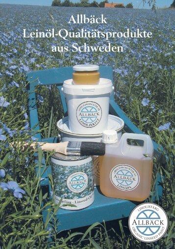 Allbäck - Broschüre Deutsch - Leinöl natürlich