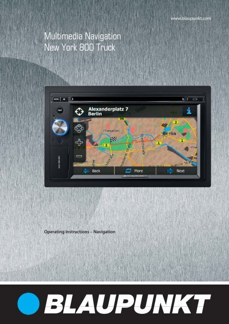 multimedia navigation new york 800 truck blaupunkt. Black Bedroom Furniture Sets. Home Design Ideas