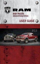 2012 Ram Truck 1500/2500/3500 User Guide - SPX