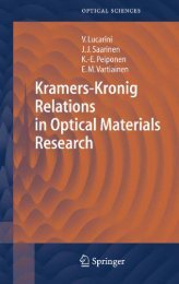 Kramers–Kronig Relations in Optical Materials Research