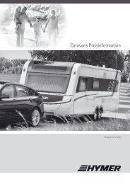 Caravans Preisinformation - Hymer