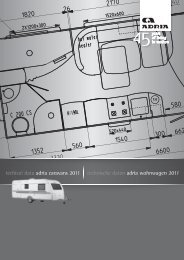 techical data adria caravans 2011 technische daten adria ...