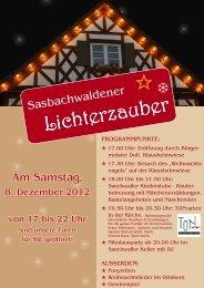 Flyer - Sasbachwalden
