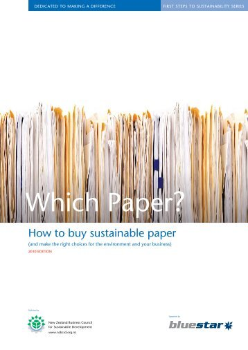 Paper Buying Guide - Sustainable Business Council