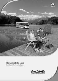 Preisliste/Technische Daten Reisemobile 2013 (4 MB) - Dethleffs