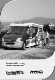 Preisliste Reisemobile 2009 - Dethleffs
