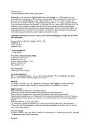 Gelenk-Albin ® Bei rheumatischen Erkrankungen ... - Claras Apotheke