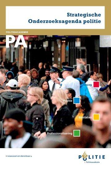 Strategische Onderzoeksagenda politie - Politieacademie
