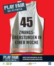 Play Fair bei Olympia - deutsche Zusammenfassung - Oxfam