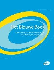 Het Blauwe Boek - Pfizer