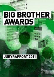 juryrapport - Big Brother Awards