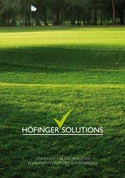 Ein Auszug unserer Leistungen für - Höfinger Solutions