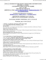 annual congress of the - Association for Spanish and Portuguese ...