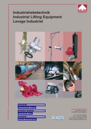 Industriehebetechnik Industrial Lifting Equipment Levage Industriel