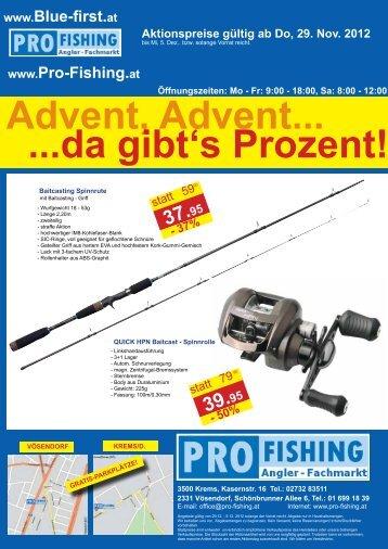 Advent, Advent... ...da gibt's Prozent! - Pro Fishing