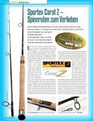 Sportex Carat Z – Spinnruten zum Verlieben