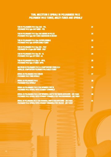 TUBI, MULTITUBI E SPIRALI IN POLIAMMIDE PA12 ... - EVP Systems
