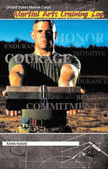 NAVMC 2933 Martial Arts Training Log - Marine Corps