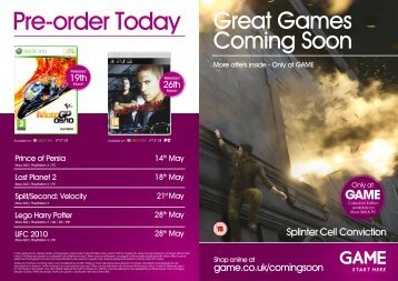 Pre-order Today Great Games
