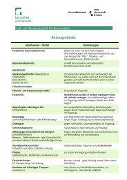 Informationen für die Reiseapotheke - Gesundheitsamt Bremen
