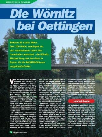 Die Wörnitz bei Oettingen - Raubfisch