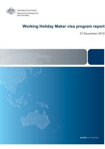 Working Holiday Maker visa program report