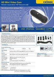 HD Mini Video Cam - Otto Sauseng GMBH