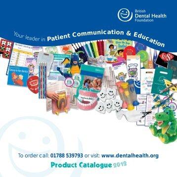 01788 539793 - British Dental Health Foundation
