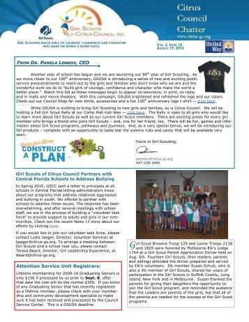 CCC Aug. 19, 2010 - Girl Scouts of Citrus Council