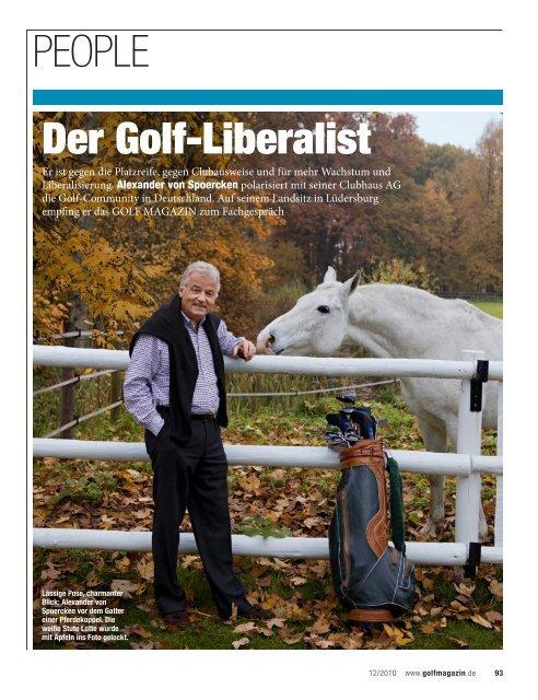 Golfmagazin, 23.11.2010 - Clubhaus AG