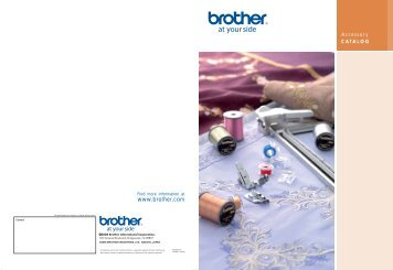 Accessory Catalog - Brother Sewing Machines