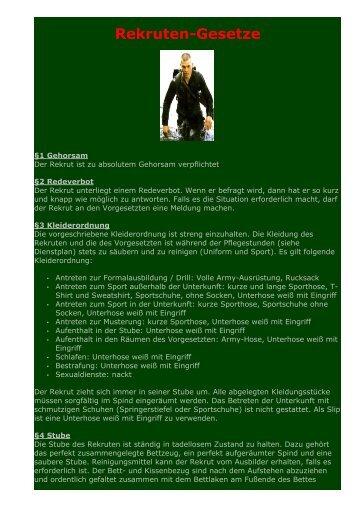Rekruten-Gesetze - Golden Eagle Base Mil.net