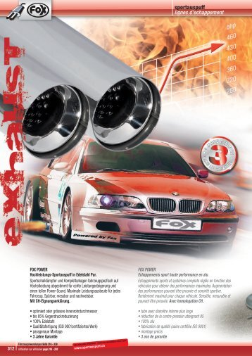312-331 TUN 13 Fox Sportauspuff - Jec Import SA