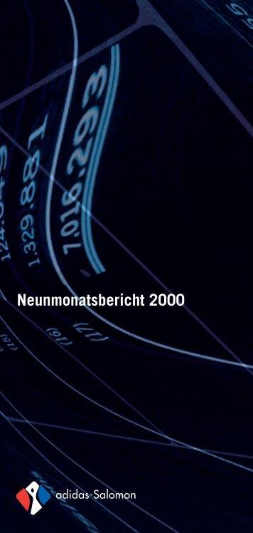 Neunmonatsbericht 2000 - adidas Group