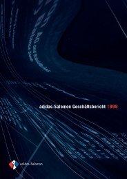 Geschäftsbericht 1999 (1,3 MB PDF) - adidas Group