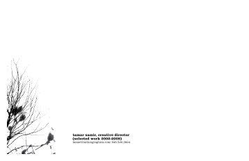 portfolio PDF - Tamar Samir, Creative Director