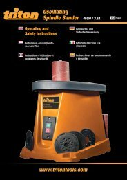 Oscillating Spindle Sander - Triton Tools