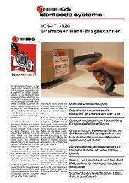 ICS-IT 3820 Drahtloser Hand-Imagescanner - ICS Identcode ...