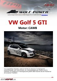 VW Golf 5 GTI - WOLF-POWER