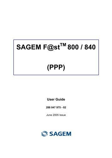driver sagem fast 800-840 windows 7