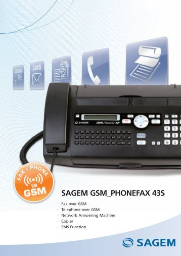 SAGEM GSM_PHONEFAX 43S - Sagemcom