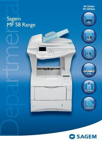 Sagem MF 58 Range