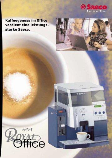 Datenblatt Saeco Royal Office Kaffeevollautomat