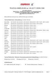 Telefax-Anmeldung 2013 - Mateco