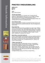 Teknisk Datablad - Pinotex