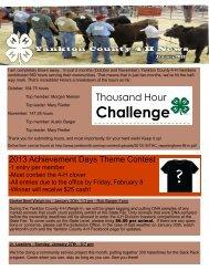 Jan newsletter 2013 - Yankton County 4-H